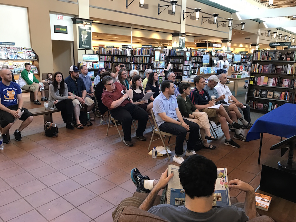 Flash fiction reading at Barnes & Noble. Great crowd!