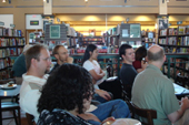 A captive audience at the Science Fiction Slam