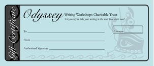 Odyssey Writing Workshops Charitable Trust Gift Certificate